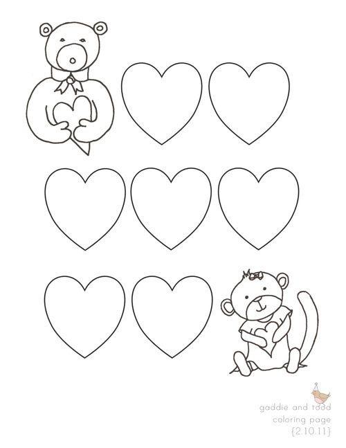 1000 images about valentine coloring pages on Pinterest
