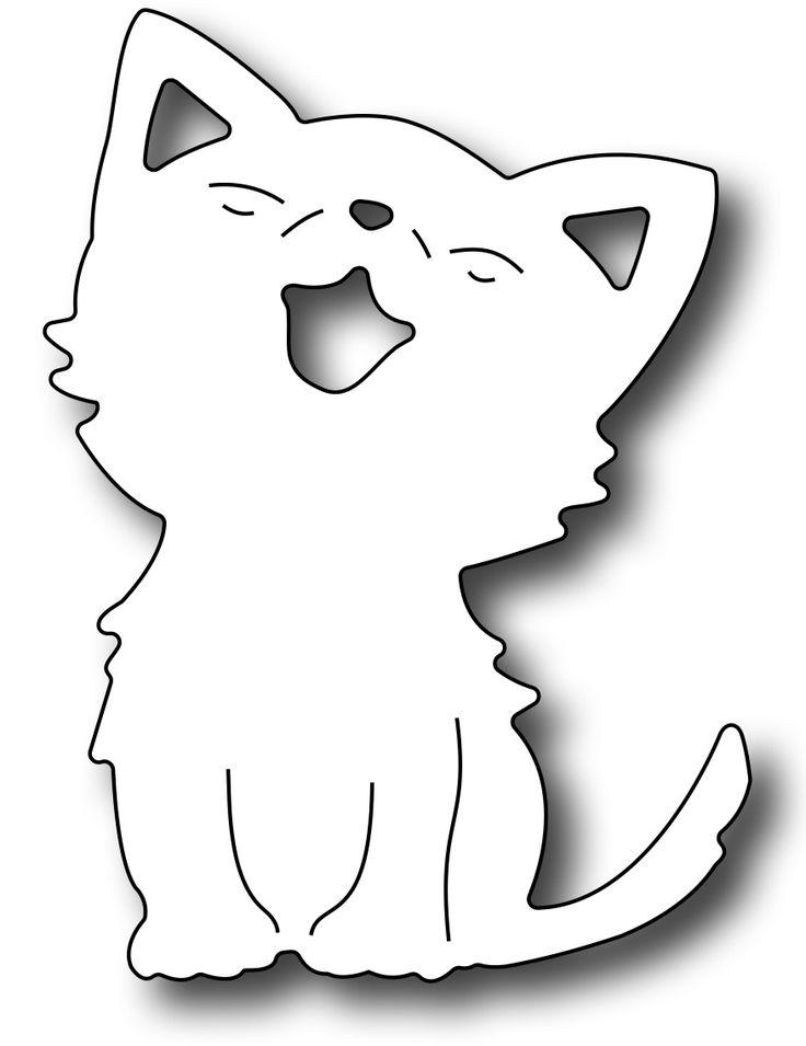 Frantic Stamper Precision Die - Cute Kitten