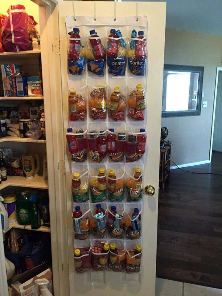 Great way to organize snack time for after school!