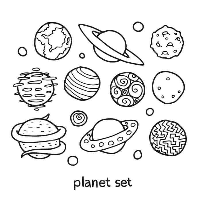 Solar System Coloring Pages For Kids In 2020 Solar System