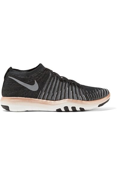 Sole measures approximately 35mm/ 1.5 inch Black, white and gray Flyknit Lace-up front Nike follows its own size conversion, therefore the size stated on the box will differ from the one provided in our conversion chart. To receive your correct fit, please refer to Size & Fit notes Imported