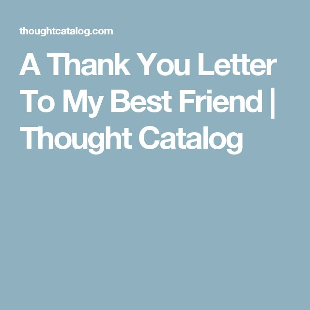 Write A Thanking Letter To Your Friend