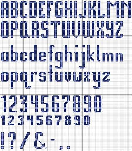 Alphabet 12 Cross Stitch Design and Chart