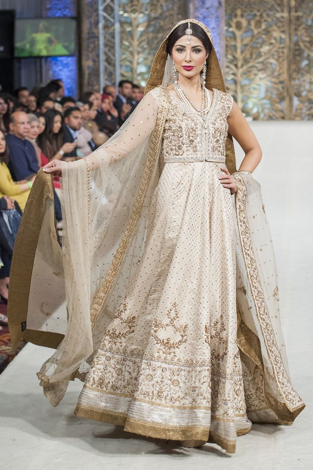 Zaheer abbas at pfw london 2014 pakistani wedding for Online pakistani wedding dresses