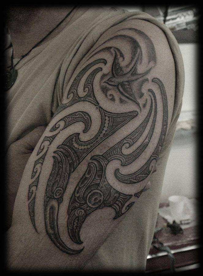 Custom Maori Tattoo Designs: Custom Maori New Zealand Tribal Kirituhi Ta Moko With Old