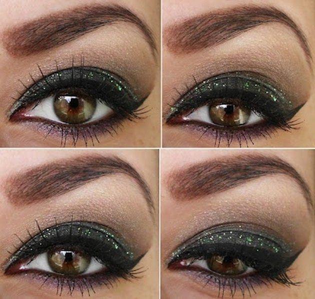 еще вечерний макияж для зеленых глаз фото поэтапно если