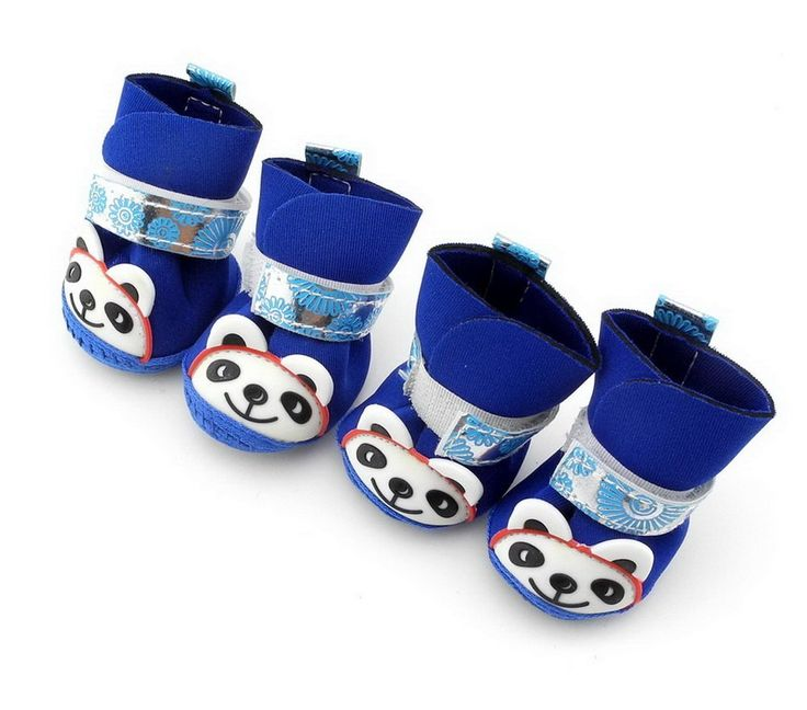 SELMAI Panda Printed Dog Boots Shoes Paw Protector Walking Puppy Shoe ,for Small Dog Cat Puppy * Be sure to check out this awesome product. (This is an affiliate link and I receive a commission for the sales)