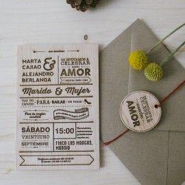 Invitación de Madera