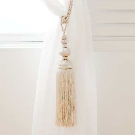 Cream Curtain Tieback - Curtains - Bedroom | Zara Home Danmark