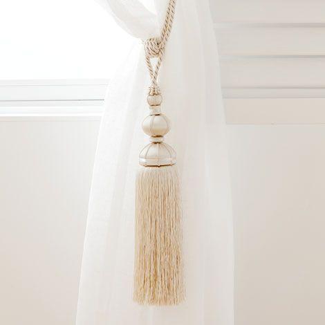 Cream Curtain Tieback - Curtains - Bedroom | Zara Home Danmark