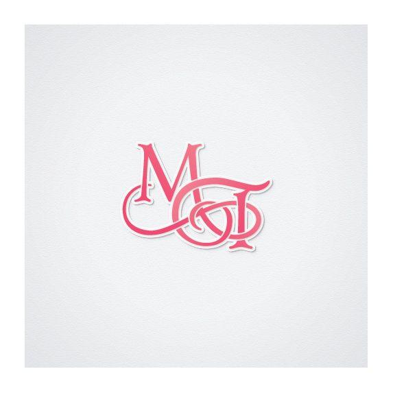 #wedding #logo, initials, custom wedding monogram, wo-letter intelock monogram