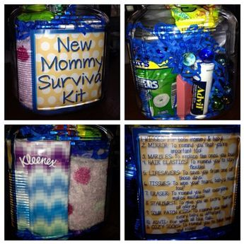 New Mommy Survival Kit! - includes instructions on what to include