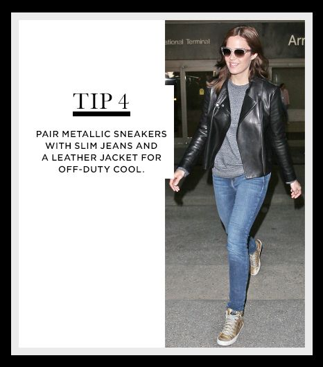 @Alexandra M What Wear - WHO: Mandy Moore WHAT: Landing at the Los Angeles airport a few weeks ago. WEAR: Oliver Peoples Braverman Photochromic Metal-Arm Clear Sunglasses ($460); The Row Brilly Leather Moto Jacket ($2990); T by Alexander Wang Crewneck Sweatshirt ($185) in Heather Grey; Current/Elliott The Ankle Skinny Jeans ($218) in Loved; Golden Goose Hi-Top Trainers ($323). Get The Look: Free People Final Say Sunglasses ($18); BB Dakota Noe Retro Cropped Jacket ($134); American Apparel…