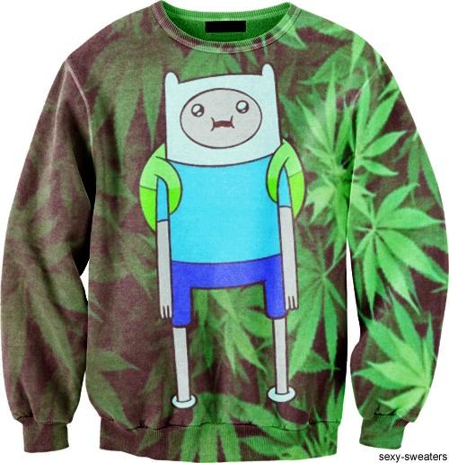 "Marijuana Time! I mean its Finn from ""Adventure Time"" lol #want"