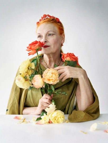 British Fashion legend Dame Vivienne Westwood. Remember her when she was flogging dirty t shirts on the Kings Rd.