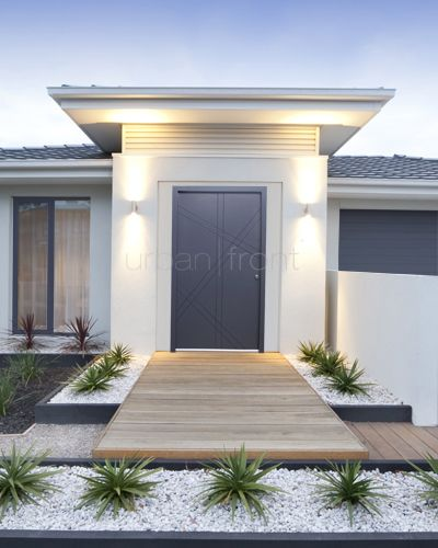 Contemporary Ranch House Remodel Front Entrance Ideas With Walkway Small Yard Green Grass: Home Ideas, Color Palettes And Kitchen Armoire