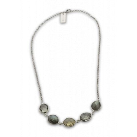 SysterP Nugget Necklace Silver Labradorite - Nordic Grace Accessories