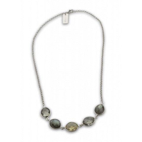 SysterP Nugget Necklace Silver Labradorite - Nordic Grace Accessories
