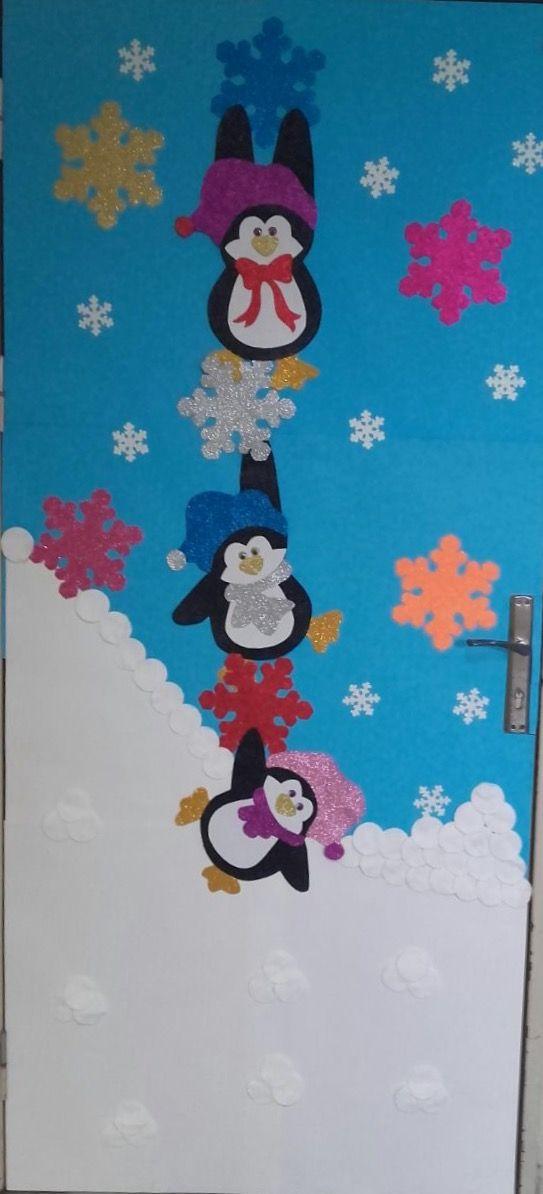 Kış geldi hoş geldi. Sınıfımızın kapısı!☃️