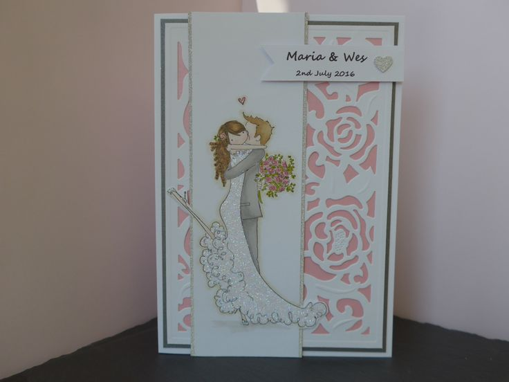 Wedding card made with Stamping Bella - Brett and Brenda get married