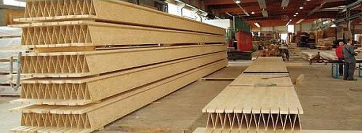 Sistema Patentado para pisos y techos (forjados), hecho con paneles prefabricados consistentes en dos plataformas de madera unidas por contrachapados OSB, dando como resultado unos elementos estructurales de gran resistencia, ligeros, y que además ayudan a una construcción más sostenible