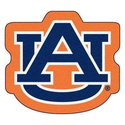 NCAA Auburn University Orange 3 ft. x 4 ft. Specialty Accent Rug