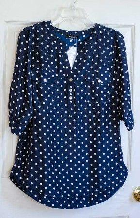 Filbert Polka Dot Print 3/4 Sleeve blouse #stitchfix @stitchfix stitch fix https://www.stitchfix.com/referral/3590654