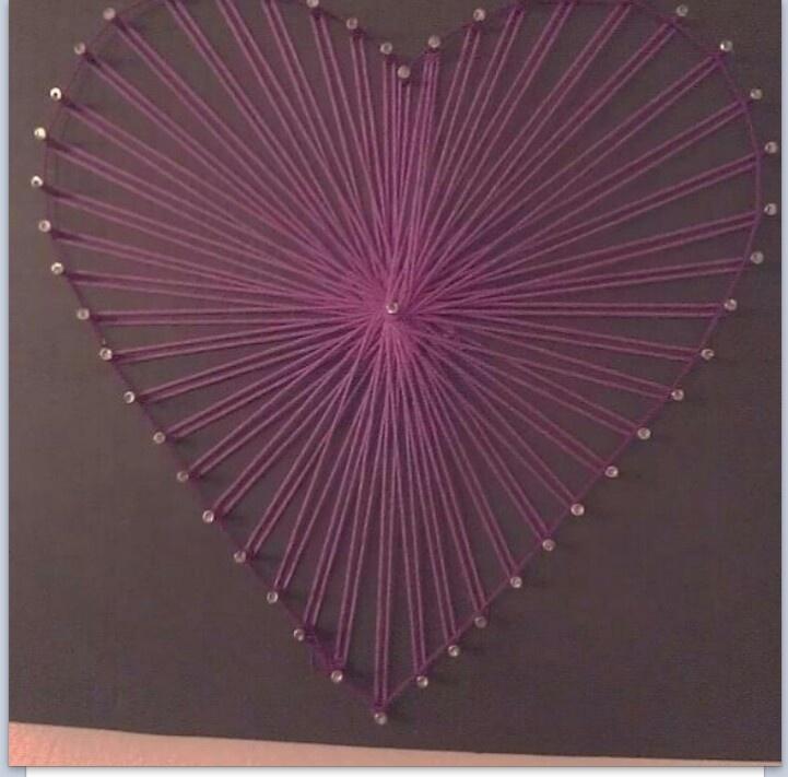 heart string art homegrown pinterest string art art and heart. Black Bedroom Furniture Sets. Home Design Ideas
