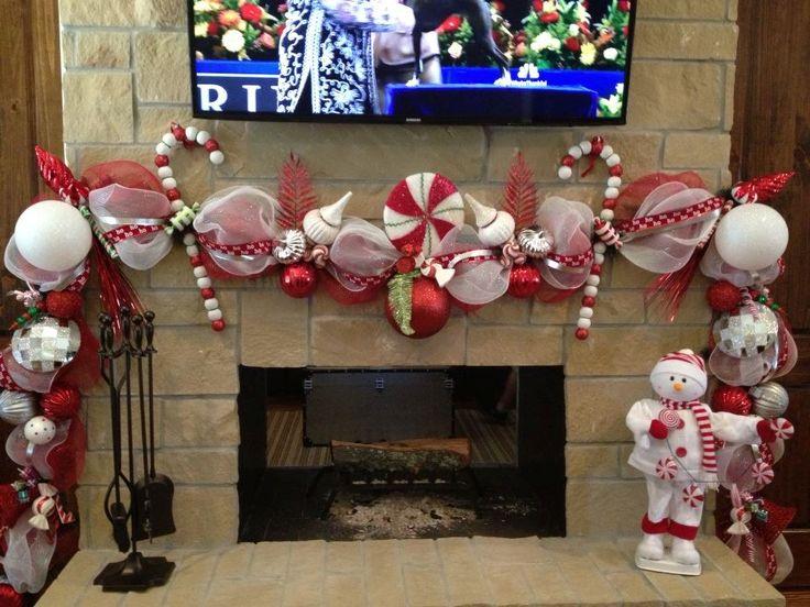 Amazing Christmas Fireplace Garland Ideas Part - 14: Best 25+ Deco Mesh Garland Ideas On Pinterest | Mesh Garland, Mesh Ribbon  And Outdoor Christmas Garland
