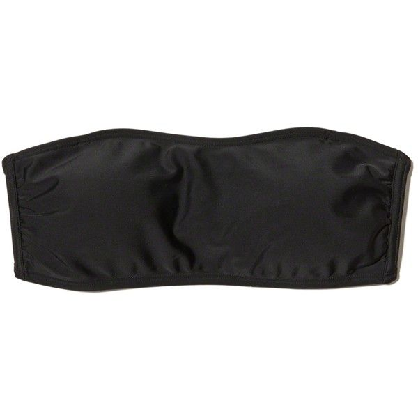 Hollister Strappy Bandeau Bikini Top ($25) ❤ liked on Polyvore featuring swimwear, bikinis, bikini tops, black, hollister co. swimwear, strappy bikini top, strap bikini top, strap bikini and bandeau top bikini