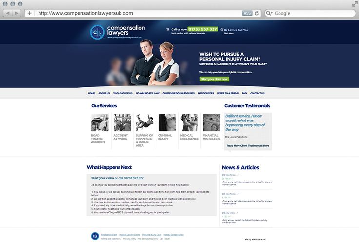 Compensation Lawyers is one of the UK's leading personal injury claim specialists. They approached siteminders for a simple and salable solution that could support their current set of legal services and provide room for new ones in the future. We came up with a great design and powered it with WordPress.