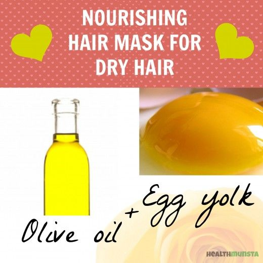We've rounded up four super moisturizing hair masks to DIY at home, all using ingredients right from your kitchen. Eggs are rich in protein, making them very popular for a hair mask that nourishes hair. When you add olive oil into the mix, you get a great two-ingredient mask that moisturizes and revitalizes hair.