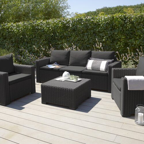 California 5 Seater Rattan Effect Sofa Set Homestead Living Colour