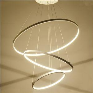 Moderne Simple Métal + Acrylique Blanc / blanc chaud LED SMD--1*90W Lustre
