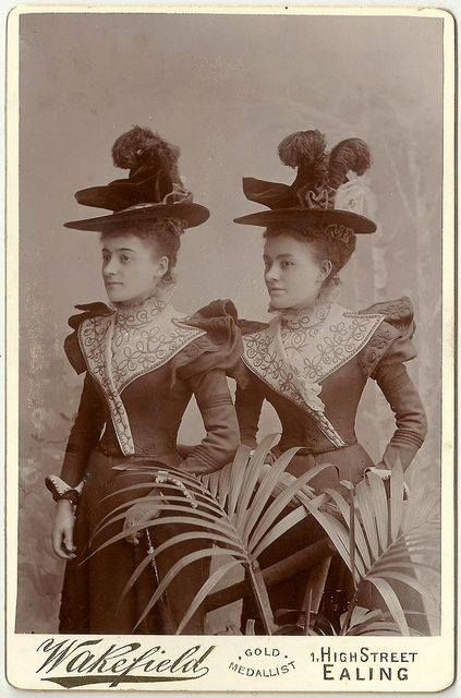 c.1900 Fashion forward identicals.