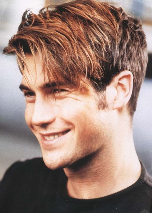 Stunning Hairstyle with Side Fringe for Men