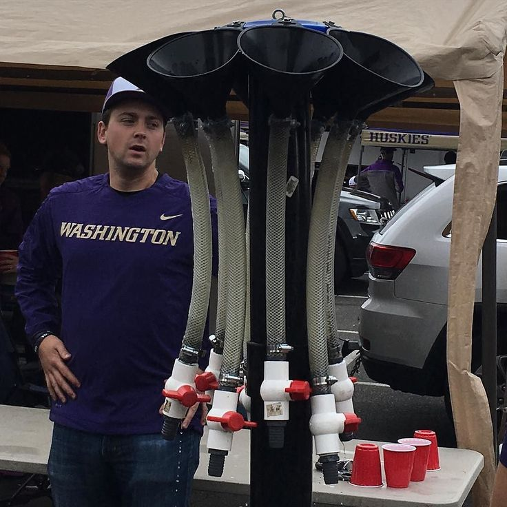 Looks like this #UWHuskie fan invested in a huge amount of beer bongs.  Sounds like a great investment! Thanks @pdxmac!  #SuperTailgate #tailgate #tailgating #win #letsgo #gameday #travel #adventure #stadium #party #sport #ESPN #jersey #sports #league #SportsNews #score #photooftheday #love #football #NCAAF #CollegeFootball