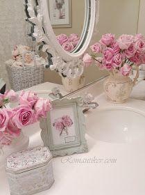 SHABBY CHIC Style         romantik shabby chic ev banyo dekorasyonu           rachel ashwell simply shabby chic towels           romant...