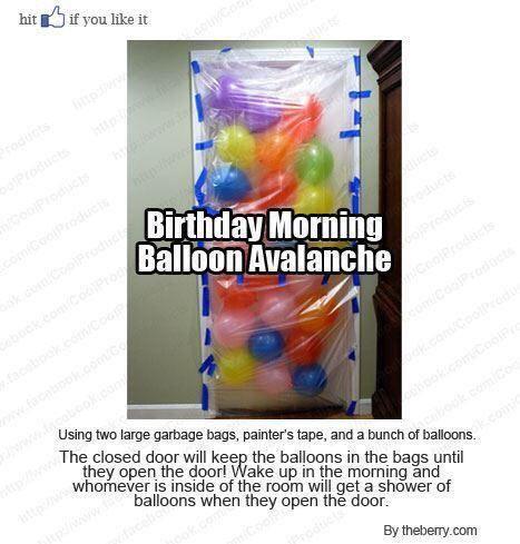 Birthday Balloon Avalanche - #Birthday, #Fun