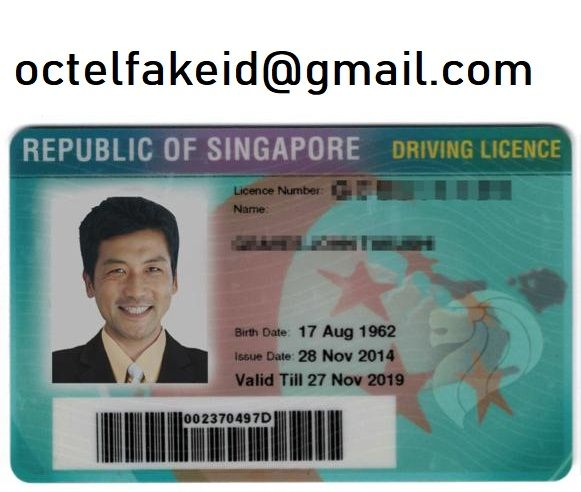 Order A Singapore Fake Driving Licence Driving License Driving Singapore