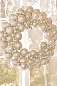 DIY : Metallic pearl wreath