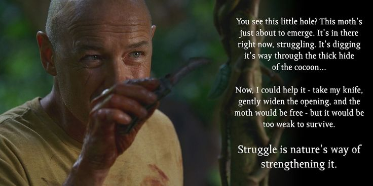 One of my favorite quotes from season 1 of LOST. I find it pretty motivating. - Imgur