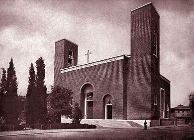 Chiesa del Sacro Cuore di Cristo Re, Marcello Piacentini, 1920-36