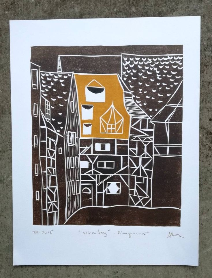 Excited to share the latest addition to my #etsy shop: Nurnberg houses original linocut print, medieval architecture of Germany, decorative multicolor print, art gift, historical Bavarian style #printmaking #nurnberg #bavaria #goddessgruia #linoprint http://etsy.me/2CxA32R