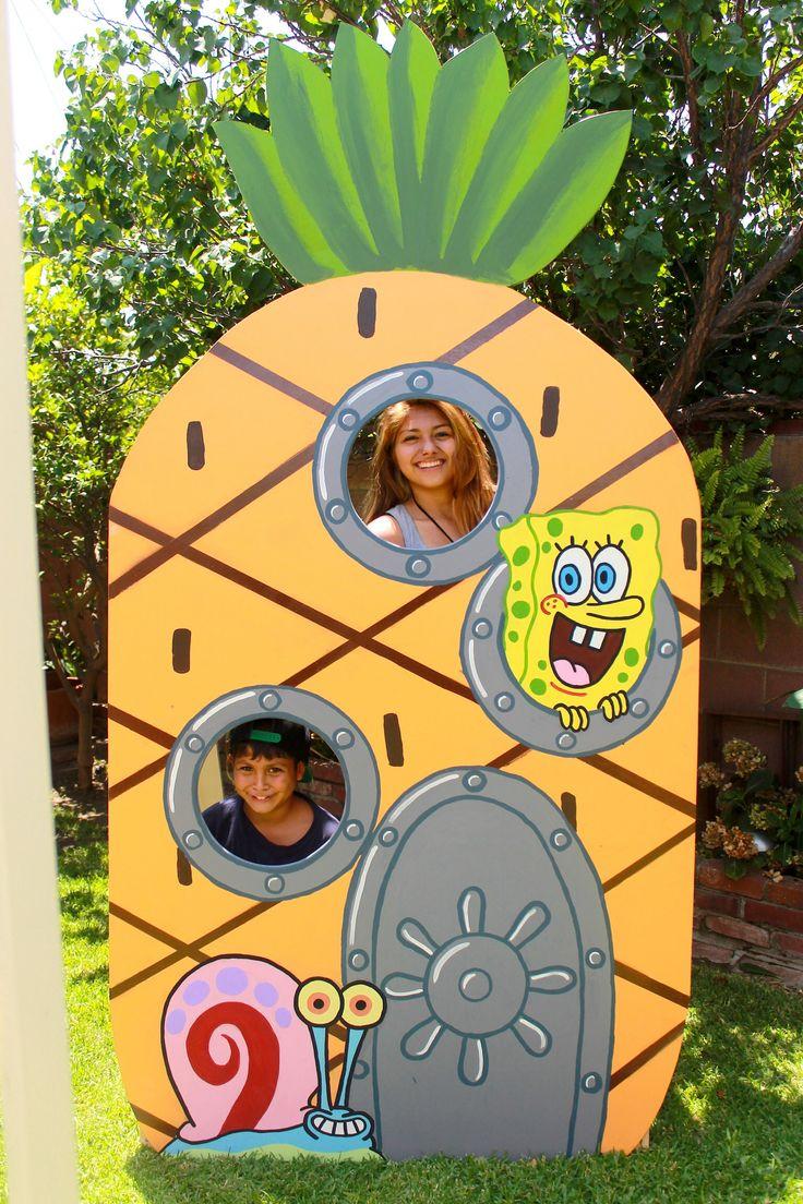 Spongebob Face In Hole Party Prop Spongebob Party Ideas