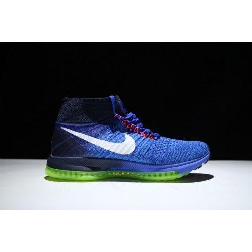 Billig Nike Air Zoom All Out Flyknit Menn Joggesko Blå Svart Grønn