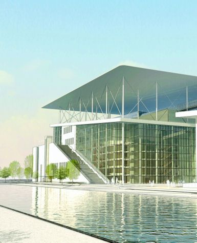 Stavros Niarchos Foundation Cultural Center by Renzo Piano Building Workshop connects opera house for Greek National Opera to national library