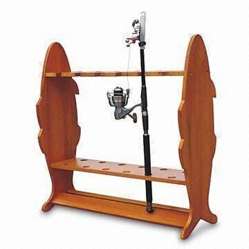 fishing pole holders for home | Home > Fishing Rods > Wood Fishing rod holder