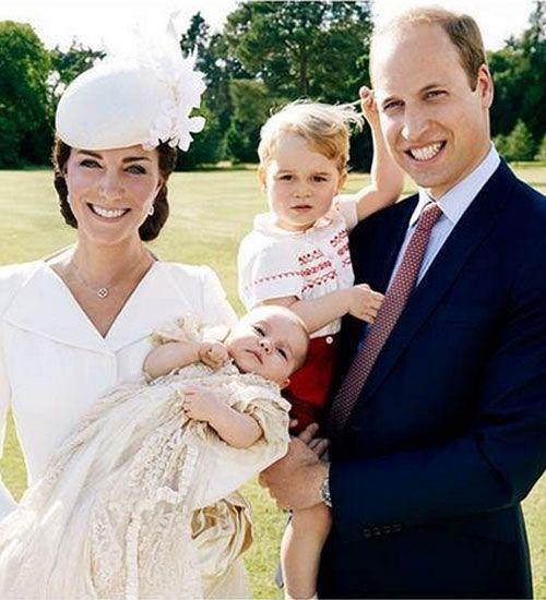 Prenses Charlotte'un vaftiz fotoğrafları