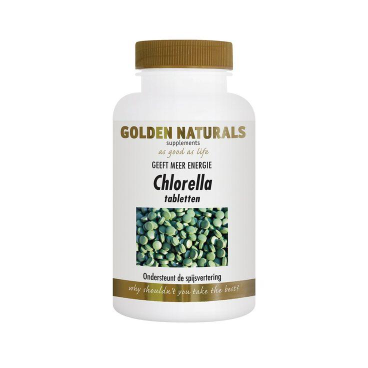 Golden Naturals Chlorella geeft u een stuk meer energie en het helpt de spijsvertering ook. neem 3 maal daags 2 tabletten voor optimaal resultaat.